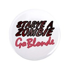"Starve a Zombie 3.5"" Button (100 pack)"