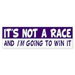 It's Not a Race Bumper Sticker with a Twist