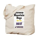 Bernese Mountain Dog Best Breeds Tote Bag