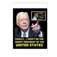 OBAMA IS WORST YET Postcards (Package of 8)