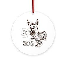 BaJack Ass Obama Ornament (Round)