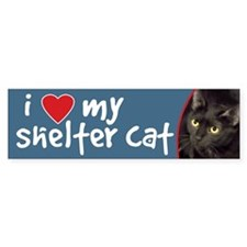 I Love My Shelter Cat Bumper Bumper Sticker