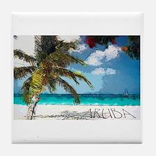 Cute Ocean travel Tile Coaster