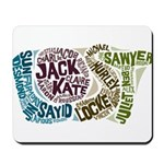Lost Characters Mousepad