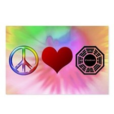 Peace Love Dharma Postcards (Package of 8)