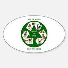 Recycle and Save A Dog Decal