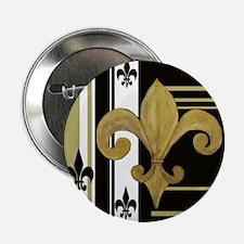 """Gold and multi black fleur de 2.25"""" Button"""