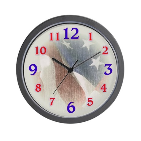Patriotic Flag Wall Clock
