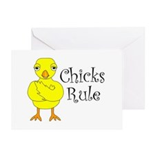 Chicks Rule Greeting Card