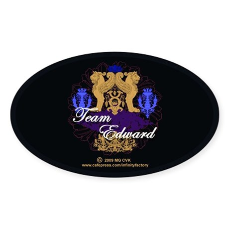 Team Edward Sticker (Oval)