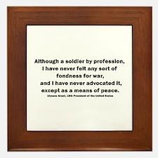 Ulysses S. Grant Quote Framed Tile