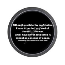 Ulysses S. Grant Quote Wall Clock