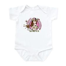 Dirty Mamasitas! Brown Infant Bodysuit