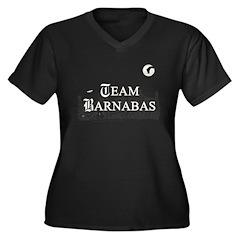 Team Barnabas B&W Women's Plus Size V-Neck Dark T-