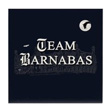 Team Barnabas B&W Tile Coaster