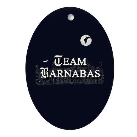 Team Barnabas B&W Ornament (Oval)