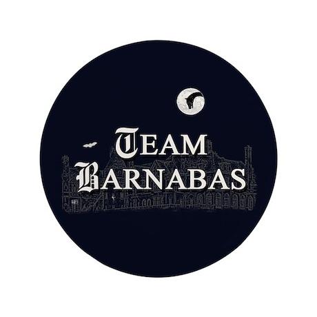 "Team Barnabas B&W 3.5"" Button (100 pack)"