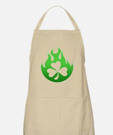 flame and shamrock4 BBQ Apron