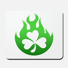 flame and shamrock4 Mousepad