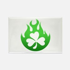 flame and shamrock4 Rectangle Magnet
