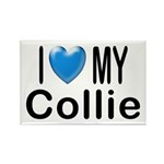 I Love My Collie Rectangle Magnet (100 pack)