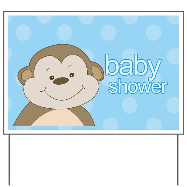 baby shower monkey yard sign boy by artbyjessie