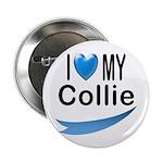 I Love My Collie Button