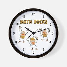 Math Rocks Wall Clock