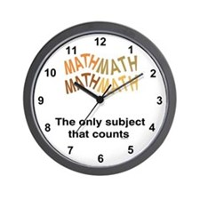 Math Counts Wall Clock