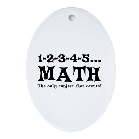 Math Counts Ornament (Oval)