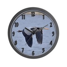 Heron Flying Wall Clock
