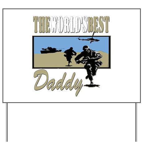 Military Daddy Yard Sign