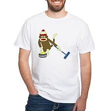 Sock Monkey Olympics Curling Shirt