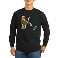 Sock Monkey Curling T