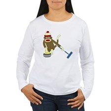 Sock Monkey Curling T-Shirt