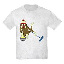 Sock Monkey Olympics Curling T-Shirt