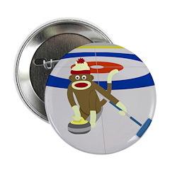 Sock Monkey Olympics Curling 2.25