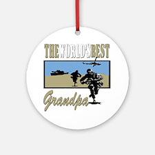 Military Grandpa Ornament (Round)