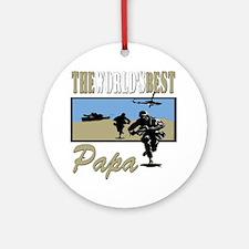 Military Papa Ornament (Round)