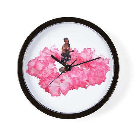 Hawaiian Dancer and Lei Wall Clock