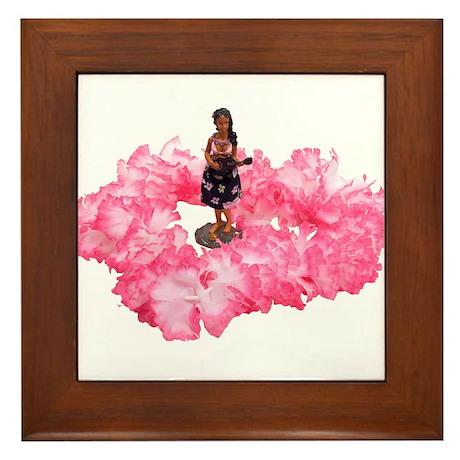 Hawaiian Dancer and Lei Framed Tile
