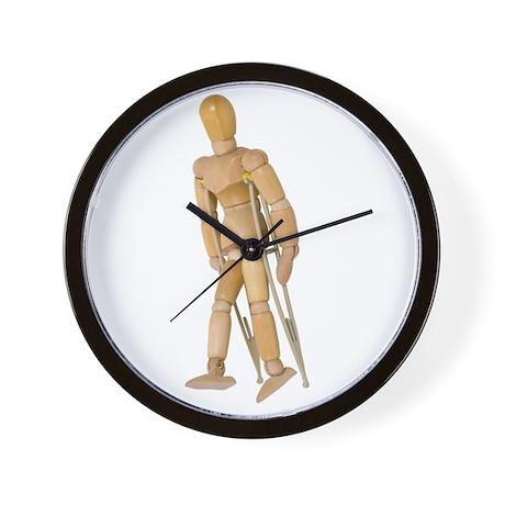 Using Crutches Wall Clock