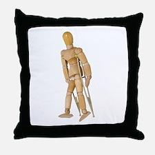 Using Crutches Throw Pillow