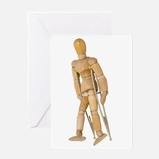 Using Crutches Greeting Card