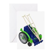 Wheelchair and Crutches Greeting Cards (Pk of 20)