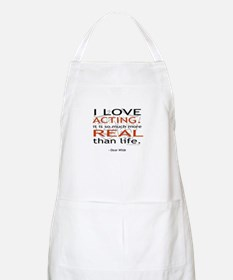 Oscar Wilde Quote on Acting BBQ Apron