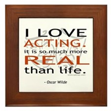 Oscar Wilde Quote on Acting Framed Tile