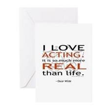 Oscar Wilde Quote on Acting Greeting Cards (Pk of