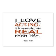 Oscar Wilde Quote on Acting Postcards (Package of