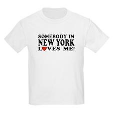 Somebody in New York Loves Me Kids T-Shirt